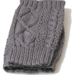 HechoNPeru - leg warmer - grey - baby alpaca - fair trade from Peru