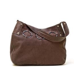 Osprey Plain Brown Leather Bag