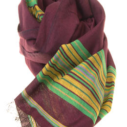 Silk-cotton scarf, handmade in Afghanistan