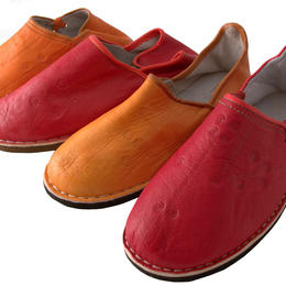 Handmade leather danbira slipers for women