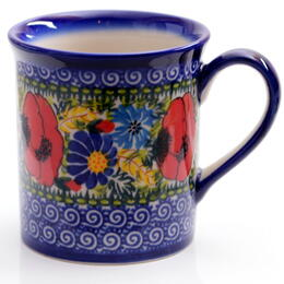 colorful flowers ceramic cup