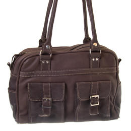 Tanya - Chocolate colour fair trade bag