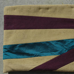 Zardozi - Big cosmetics bag with silk stripe - from Afghanistan