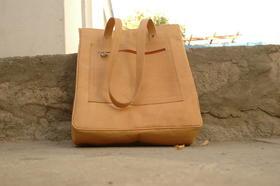 Einkaufstasche Sofia - elegant und praktisch - Echtleder - von oben