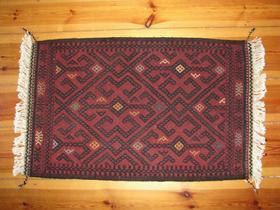 Gundara - Afghan Red Suzani Rug - Takhmina - handwoven and hand-embroidered rug