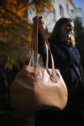 Gundara - Minnie Mouse - sac à main en cuir - en cuir naturel d'Afghanistan