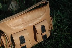 Gundara Patricia - black and natural leather