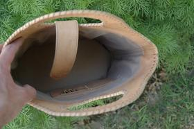 Gundara - Nature Shopper - Sac de courses élégant en cuir naturel