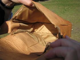 Gundara - Sufi - sac artisanal en cuir - intérieur doublé