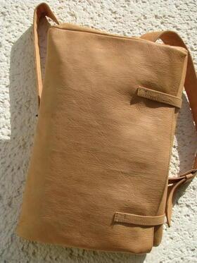 Gundara - Seidenstrasse - Rucksack - aus Afghanistan - Naturleder, chromfrei gegerbt