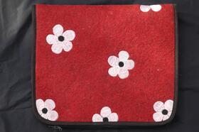 Gundara - Flower Power Felt Laptop Case - hand-embroidered with flowers