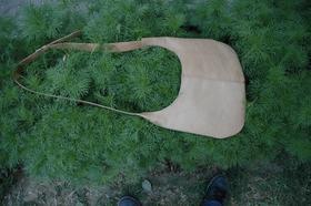 natural leather shoulder bag - genuine leather - made in Afghanistan