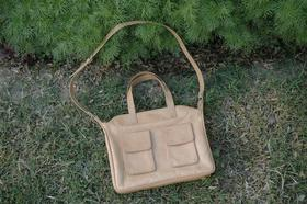 sac en cuir naturel faqbriqué en Afghanistan - Gundara