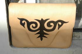 Gundara - Le grand Kirghize Big - sac messager - motif tribal Kirghize nomade