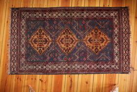 blauer Herati Adraskani Belutsch-Teppich - Gundara