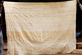 Baumwoll-Plaid - Bettüberwurf - handgewebt - aus Burkina Faso