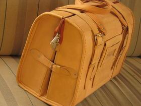 Gundara - Reisetasche Marco Polo - klassische Echtleder-Reisetasche - Handgepäck - fairer Handel aus Afghanistan