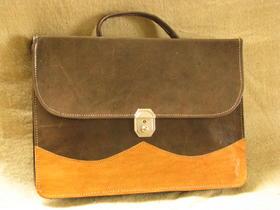 Gundara - genuine leather - briefcase - fair trade - Burkina Faso - brown