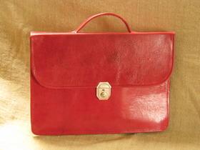 Gundara - genuine leather - briefcase Mariam - handmade in Burkina Faso - fair trade