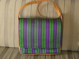Gundara - Chopan II - laptop bag - fabric and real leather - from Afghanistan