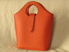 Coral shopping bag - orange - made in Afghanistan