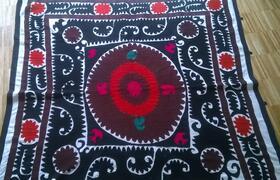 Gundara - handmade antique souzani - wall hanging - from Tajikistan
