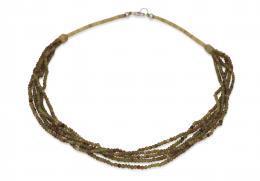 Gundara - Halskette - Serpentin - grün - Afghanistan
