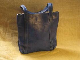 Gundara - Missy Simple Africa - simple leather shopping bag - Burkina Faso - fair trade