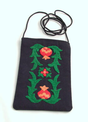 mobile phone pouch - hand-embroidered - Tajikistan - women's cooperative