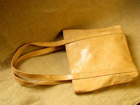 missy simple in natural leather - Made in Burkina Faso