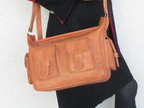 plain leather cross-body bag