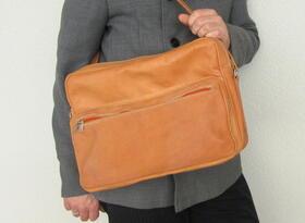 plain leather bag