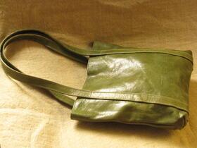 sac en cuir vert missy simple