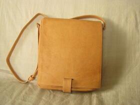 sac en cuir naturel artisanal
