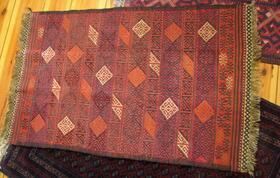 Gundara - Cute Afghan Suzani Rug - Hand embroidered tribal rug