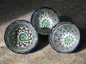 Gundara - Piola - set de bols à thé - porcelaine de Samarkande