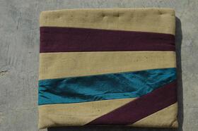 Zardozi - Big cosmetics bag with silk stripe - from Afghanistan