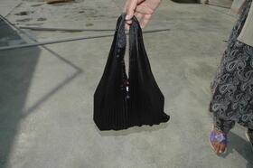 Gundara - Black Burqa Handbag by Zardozi - made by Afghan refugees