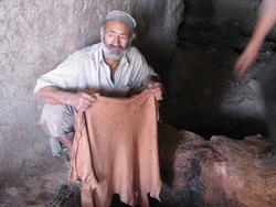 Gundara - Leather tanning in Khulm, Northern Afghanistan - step 8