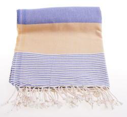 apollonia yellow and blue hammam towel