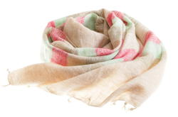 beige pink brown yak shawl from Nepal women cooperative LWH
