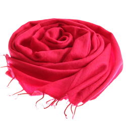 Carmin red yak shawl from Nepal women cooperative LWH
