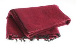 yak shawl from Nepal women cooperative in a crimson tone