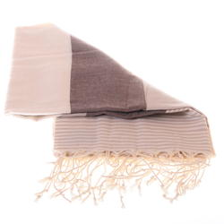 Stripped beige and brown hammam towel