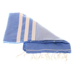 blue hammam towel