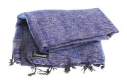 blue and pink yarns yak shawl from Nepal