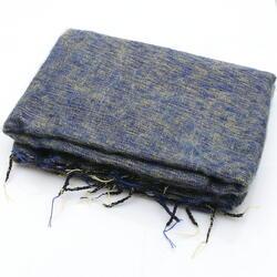 Blue and Yellow yak shawl from Nepal