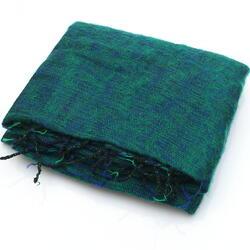Green Yak Shawl from Nepal Women Cooperative