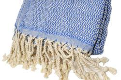 ultramarine blue hammam towel