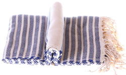 Marine blue marmara towel
